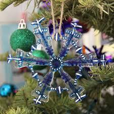 fused glass ornament snowflake colibri glass