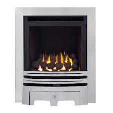 westerly glass fronted chrome inset full depth high efficiency gas