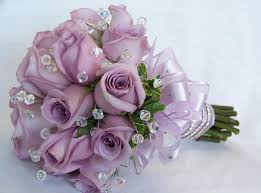 Violet Wedding Flowers - violet wedding bouquet light purple rose flowers wedding bouquet