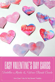 toddler wax resist heart valentine u0027s day card my bored toddler