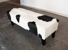 Cow Home Decor Fireplace Inspiring Cowhide Ottoman For Home Furniture Ideas