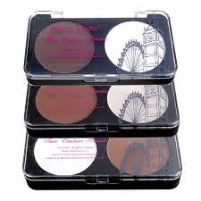2 colors makeup face contour kit matte pressed powder highlighter
