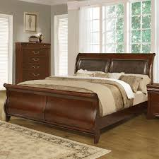 King Sleigh Bed Set by Lifestyle C4116a Traditional Queen Sleigh Bed Furniture Fair