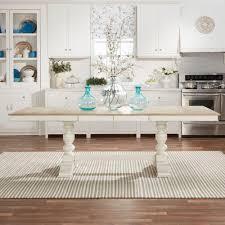 home depot banquet table margot antique white and oak extendable dining table antique white