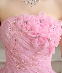 Princess Wedding Dresses Pink Color Strapless Princess Wedding Ball Gown Onesimplegown Com