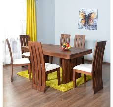Online Dining Table by Buy Delmonte 6 Seater Dining Kit Home Nilkamal Walnut Online