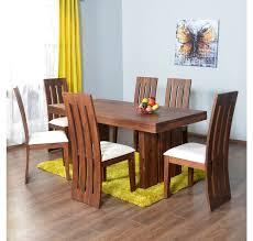 Dining Room Table Kits Buy Delmonte 6 Seater Dining Kit Home Nilkamal Walnut Online