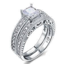 victorian style engagement ring art deco bridal set