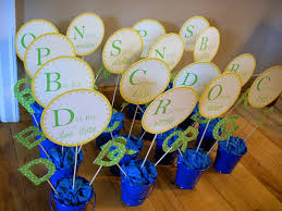 Centerpieces For Baby Shower by Alphabet Baby Shower Diy Centerpieces The Domestic Domicile