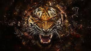 imagenes abstractas hd de animales fondos de pantalla arte digital animales abstracto tigre