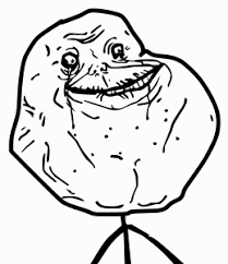 Forever Alone Meme Face - clipart forever alone