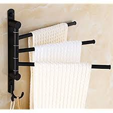 Bathroom Towel Shelves Wall Mounted Ello Allo Rubbed Bronze Swing Out Towel Racks For