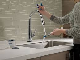 delta kitchen faucet warranty faucet 9113t ar dst in arctic stainless by delta