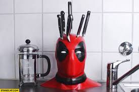 creative kitchen knives creative kitchen knives set block stand holder deadpool s