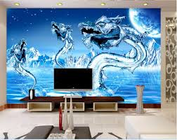 aliexpress com buy 3d wallpaper custom photo mural blue ice aliexpress com buy 3d wallpaper custom photo mural blue ice water dragon picture living room decor painting 3d wall mural wallpaper for walls 3 d from