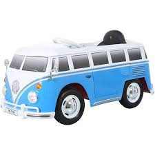 volkswagen van transparent rollplay vw type 2 bus 6 volt battery powered ride on walmart com