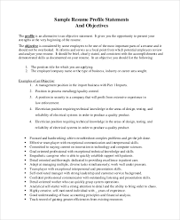 Sample Resume Objective Sentences by Sample Resume Objective 8 Examples In Pdf
