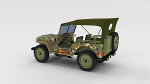 willys jeep offroad full w chassis jeep willys mb military camo rev by dragosburian