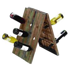 shop woodland imports rustic 18 bottle tabletop wine rack at lowes com