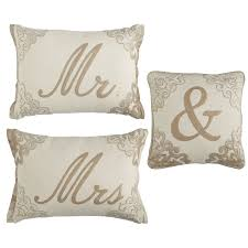 Pier One Pillows And Cushions Champagne Script Monogram Pillows Mr U0026 Mrs Pier 1 Imports