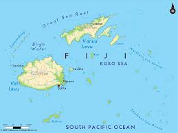 Map Of Oceania Road Map Of Fiji And Fiji Road Maps