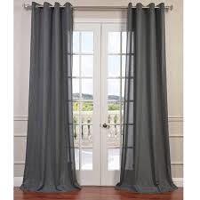 Grommet Top Valances Exclusive Fabrics Faux Linen Grommet Top Curtain Panel Free
