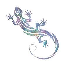 small multicolour tribal gecko temporary tattoo temporary tattoo