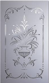 Glass Etching Designs For Kitchen Decorative Door Glass All Purpose Glazing