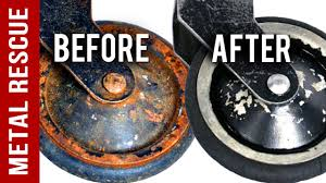 Remove Rust From Metal Furniture by Remove Rust From Metal Castor Wheels Metal Rescue Rust Remover