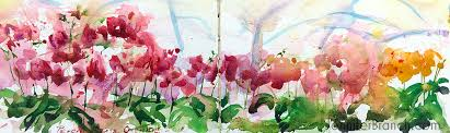 orchids sketch watercolor painting tutorial