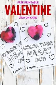 crayon valentines melted crayon hearts with free printable valentines by harvard