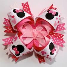 2 boutique hair clips minnie mouse dots pink bowtique
