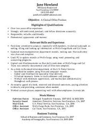 Sample Resume For Office Work by What Is Clerical Resume Sales Clerical Lewesmr
