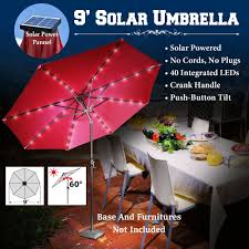 Solar Patio Umbrella Lights by Triyae Com U003d Backyard Umbrella Lights Various Design Inspiration