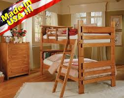 Bunk Bed Headboard Roundhill Furniture Solid Wood Convertible Bunk Bed With Bookcase