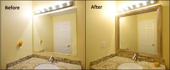 how to frame vintage bathroom mirror how to frame a bathroom