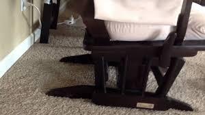 Rocking Chair Dutailier Dutailier Sleigh Glider Espresso And Velvet Beige Review Youtube