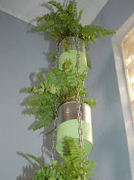 recycled can plant holder hometalk