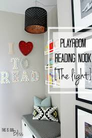 Playroom Ideas Playroom Reading Nook Adding A Light This Is Our Bliss