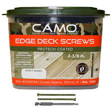 Home Depot Design Deck Online Camo 2 3 8 In Protech Coated Trimhead Deck 1750 Count