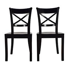 Wooden Chair 53 Off Crate And Barrel Crate U0026 Barrel Vintner Wooden Chair