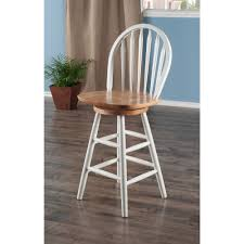 24 Inch Bar Stools With Back Arrowback Windsor Swivel Counter Stool 24 U0027 U0027 Multiple Finishes