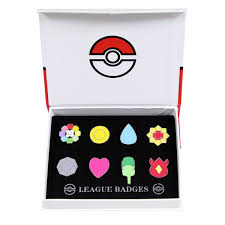 amazon com pokemon ash gym badges kanto generation 1 badges