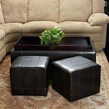 leather tray top ottoman cool leather ottoman with tray leather tray for coffee table leather