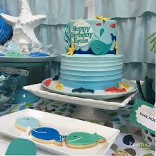 whale theme under the sea birthday party ideas photo 4 of 16