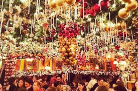 over the top restaurant and bar holiday decorations