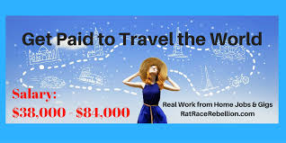 get paid to travel images Get paid to travel the world real work from home jobs by rat png