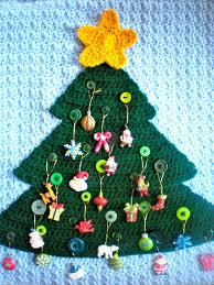pattern advent calendar modern holiday decor button tree