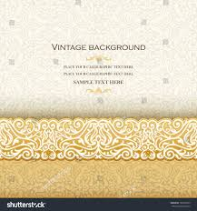 Invitation Card Background Design Vintage Background Antique Invitation Card Royal Stock Vector