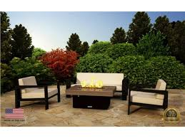 santa barbara rectangular fire pit table from so cal collection